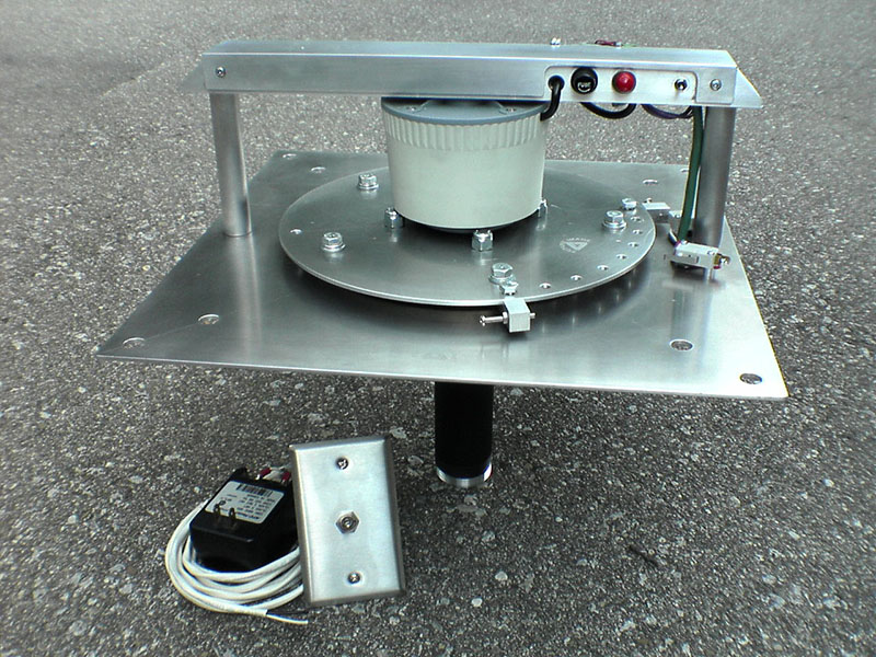 Custom rotating projector mount, 2008