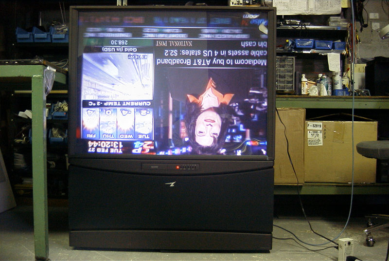 Custom inverted rear projection TV, 2001